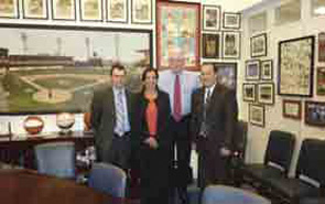 Michael Blakley, MD, Daksha Mehta, MD and REF Executive Director, Steve Echard with Senator Jim Bunning during the ACR's Annual Advocates for Arthritis Fly-in.