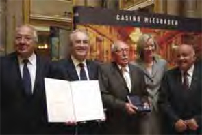Dr. Miossec (second from left) and others at the Carol Nachman Prize award ceremony.