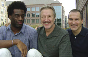 Damian Smalls, Ron Olejko, and David Haag (left to right) outside the ACR headquarters in Atlanta.