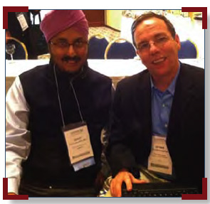 Although they had collaborated on several projects by email, GRAPPA members Gurjit Kaeley (left) and Dennis McGonagle had not met until the GRAPPA adjacent to ACR/ARHP Annual Scientific Meeting in Atlanta in November 2010.