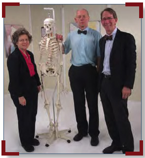 Pictured (left to right) are Drs. Gladman, Helliwell, and Mease during the August 2010 filming of the musculoskeletal portion of the GRAPPA Video Training Project.