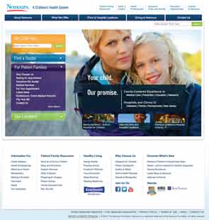 Nemours reaches out to patients through its Facebook page and website.