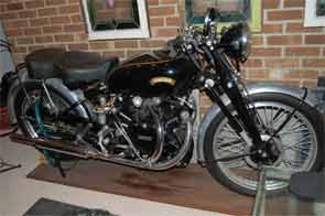 1953 Vincent Black Shadow motorcycle