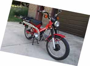 About 300 original miles on the last of the famous Honda CT series.