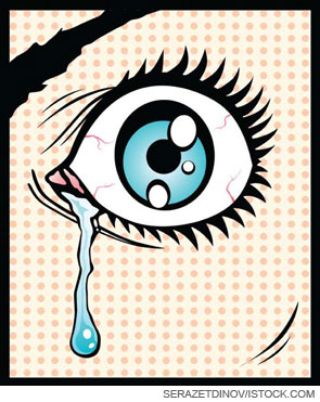 What is contained in a tear?
