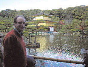 On a recent trip to Japan, Dr. van Riel visited the Golden Pavilion in Kyoto.